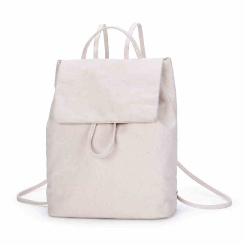 Cheap design simple school girls canvas backpack