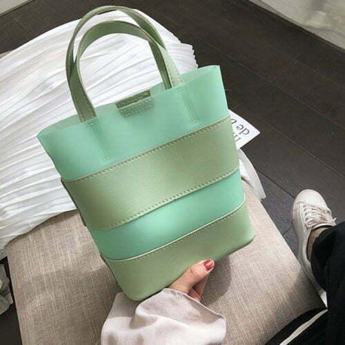 Fast fashion design PVC leather shopping hand bag