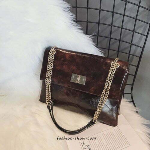 2020 winter design metal chain long shoulder bags