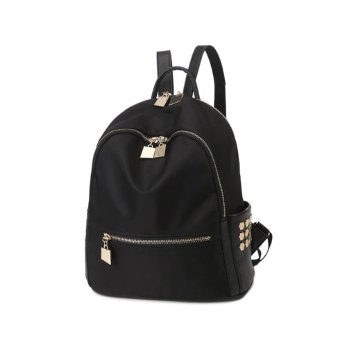Best selling nylon fabric students nice balck backpack
