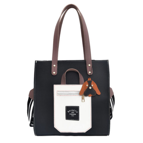 UN19141 500x500 - Promotional design cheap price PVC leather tote bags