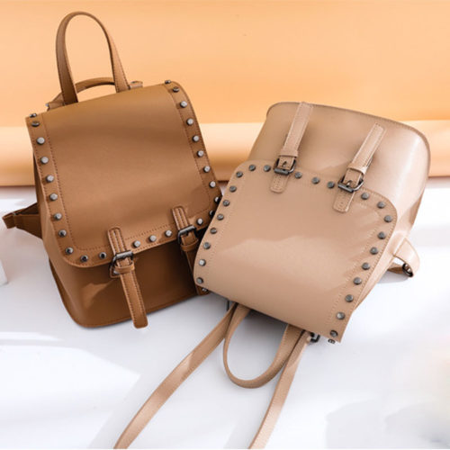 UN19145 500x500 - Newest style high quality studs human leather backpacks