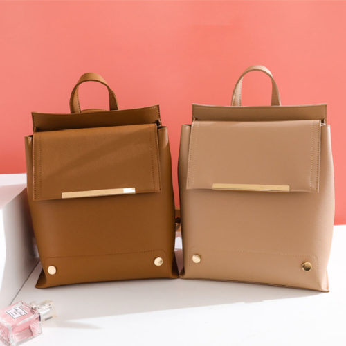 UN19147 500x500 - Cute Korean style wholesale price girls brown backpack