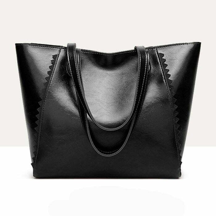 UN19150 BLACK 700x700 - Discount selling name brand style eco PU handbags