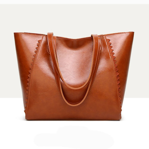UN19150 BROWN 500x500 - Discount selling name brand style eco PU handbags