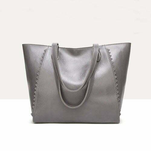 UN19150 GREY 500x500 - Discount selling name brand style eco PU handbags