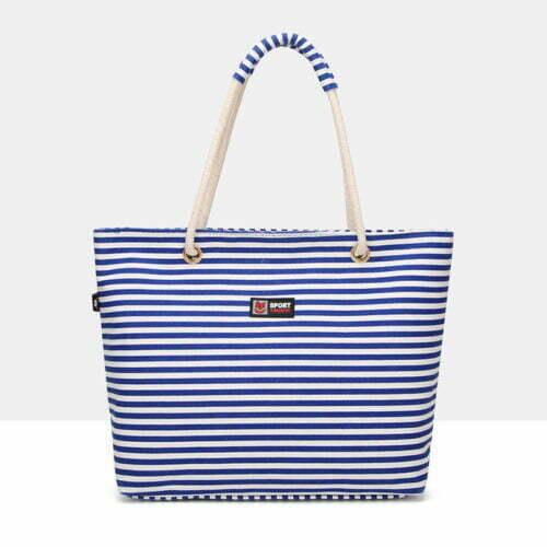 UN19154 500x500 - Fashion brand designer stripe canvas tote bags