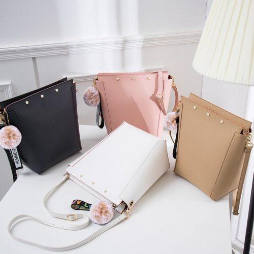 2020 new design eco human leather brown shoudler handbag