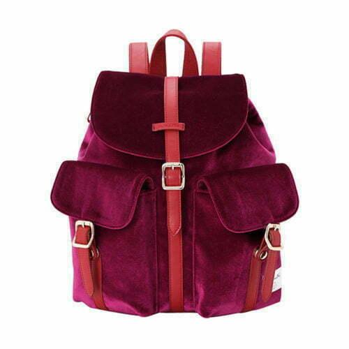 UN19164 500x500 - Winter design burgundy velvet low price backpacks