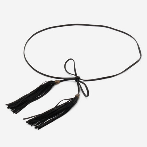QYBD021 500x500 - Casual Korean style human leather girls belt with tassels