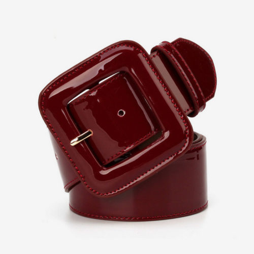 Famous designer red real leather ladies belts