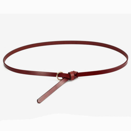 QYBD028 BROWN 500x500 - Small MOQ custom brand real leather belt for women