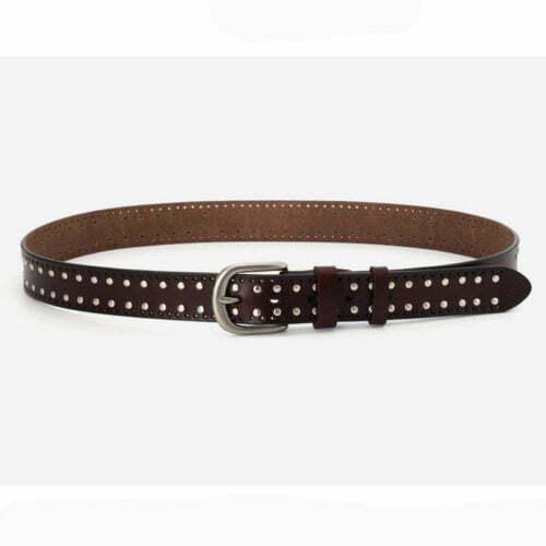 In stock genuine leather beaded ladies uk belts