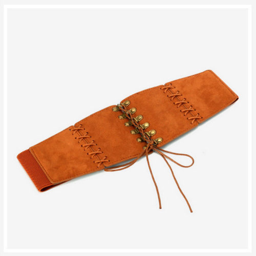 2020 new design PU leather elastic nice brown belt