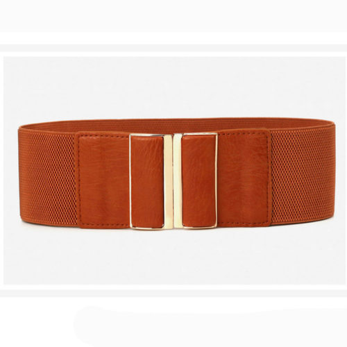 QYBD037 500x500 - Summer style camel PU leather office lady waist belt