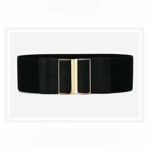 Summer style camel PU leather office lady waist belt
