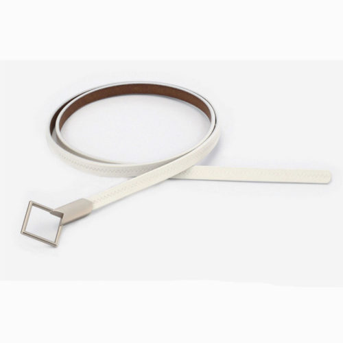 QYBD039 white 500x500 - Where to buy genuine leather belts for ladies