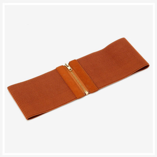 QYBD041 500x500 - 2020 summer style elastic brown belt for ladies