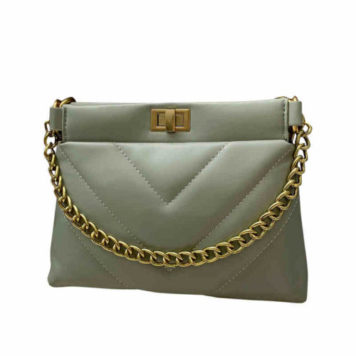 2020 embroidery PU leather metal chain small bags for ladies