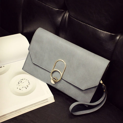 UN19173 GREY 500x500 - Guangzhou factory human leather small pink clutch bag
