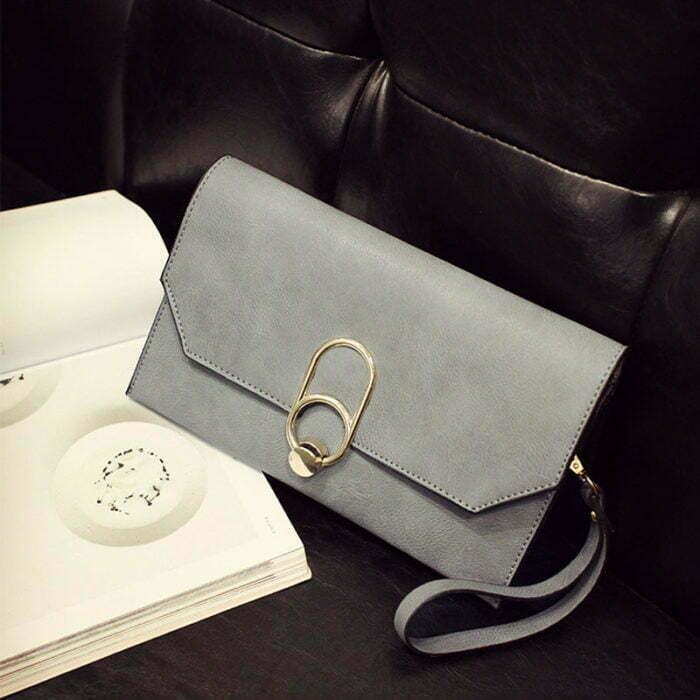 UN19173 GREY 700x700 - Guangzhou factory human leather small pink clutch bag