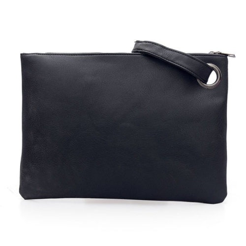 UN19175 500x500 - Hotest big brand PU leather ladies black clutch purse
