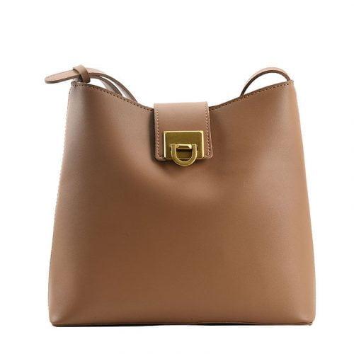 Simple Fashion Leather Bucket Sling Bag