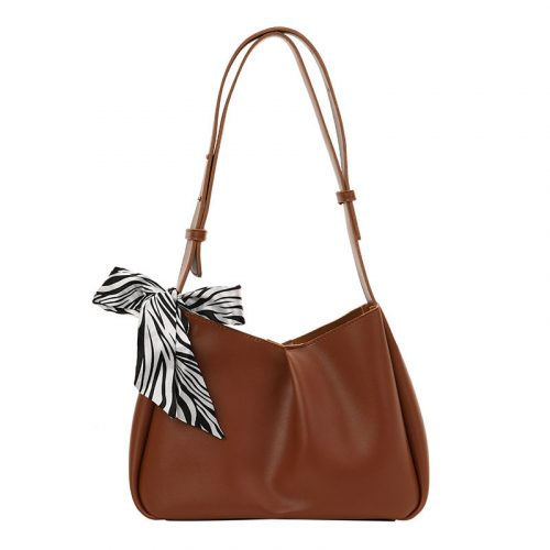 2022 New Design PU Leather Single Shoulder Bag With Scarf
